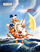 Carl Barks - His Most Loved Duck Painting - Professional Photo - Sea Cruise
