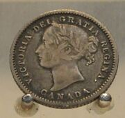 1875 H Canada Silver 10 Cents Old Silver World Ten Cent Coin