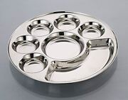 Set Of 1 Round 7 In1 Compartment Divided Plate Thali Bhojan Thali Mess Tray Dinn