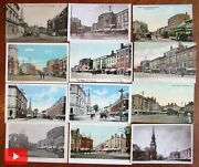 Portsmouth New Hampshire C.1910-1930 Lot X 12 Nice Old Postcards Market Sq.