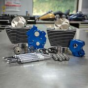 Sands 124 M8 Power Package Big Bore Highlighted Chain Cam Chrome Pushrod Water Co