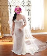 Wedding Dresse Size 2 Beautiful Belt And Veil Match Packaged Deal Or Sold Seperat