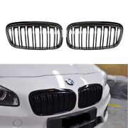 M2 Style Painted Piano Gloss Black Front Grilles Grille For 14-18 F45 F46 Active