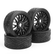 4pcs 18 Flat Rally Racing Tires Rims For Hsp Hpi Off Road Buggy Traxxas Rc Car