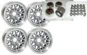 Trans Am 15x8 Snowflake Kit- Silver Wheels -stainless Center Caps And New Lug Nuts