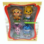 Disney Hot Toys Winnie The Pooh Cosbaby Collectible Set Set Of 4 Flocked