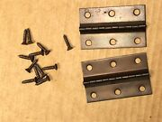 Vintage Admiral Copper Hinges And Hardware For 1960s Tube Stereo Console
