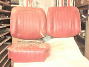 Seat Back And Bottom, Lh, And Rh Back Only, Originals. 59-60 Corvette