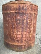 Vintage 1950s Skelly Tagolene Motor Oil Old Can 5 Gallon Rusty No Big Holes.