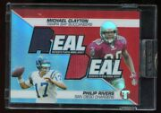 Philip Rivers Michael Clayton 2004 Topps Pristine Jersey Refractor Rc 25/25