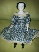 Antique Original Rare German Porcelain Doll 14 1/2 Tall Over 100 Years Old