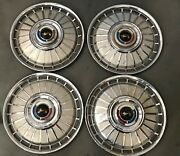 1 Set Ford Pass Galaxie And Fairlane Hubcaps Wheel Covers 14and039and039 1962 Pn O-4