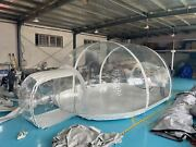 Inflatable Clear Eco Dome Camping Tunnel Bubble Tent W/ Blower New