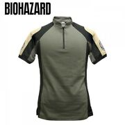 New Resident Evil Biohazard Bsaa Tactical T-shirt Capcom Japan Game Cosplay F/s