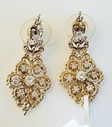 Womenand039s Solid 14k Gold 0.91 Tcw Prong Set Diamond Fashion Earring G-h Si1 8.1gr