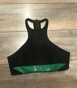 Brand New David Roma Crop Top With Green Detail Size 8