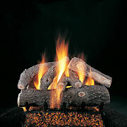 Rasmussen Frosted Oak Log Set W/ 18 Lc Burner And Electronic Pilot And Valve