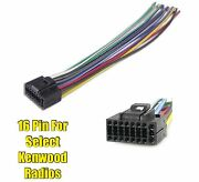 Car Stereo Radio Replacement Wire Harness Plug For Select Kenwood 16 Pin Radios