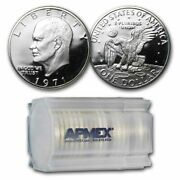 1971-s 40 Silver Eisenhower Dollars 20-coin Roll Proof - Sku 46504