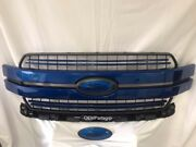 2018-2020 Ford F-150 Lightning Blue Genuine Ford Grille With Custom Oval Set