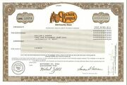 Cracker Barrel Old Country Store 2013 Tennessee Stock Certificate Share