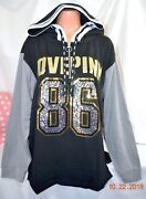 Victorias Secret Pink Sequins Bling Campus Tunic Pullover Hoodie Nwt S