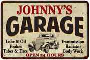 Johnnyand039s Garage Personalized Man Cave Metal Sign Decor Gift 112180014100