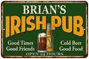Brianand039s Irish Pub Personalized Beer Metal Sign Bar Decor Gift 112180013023