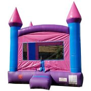 Pogo Kids Inflatable Bounce House With Blower Princess Premium Pink Jump Castle