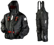 Frabill I-float Jacket And Bib Ice Fishing Suit Black Sm Msrp 600 Pant And Parka