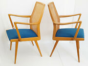 Pair Of Armchairs Scandinavian Swedish Akerblom 1950 Vintage Caning 50s 50and039s