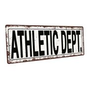 Athletic Dept. Metal Sign Wall Decor For Home And Office