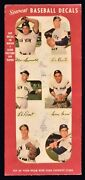 1952 Star Cal Decals Type 2 Six Picture Promotional Panel New York Yankees Berra