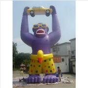 25ft 7.6m Advertising Giant Inflatable Gorilla Automobile Promotion With Blow Ec