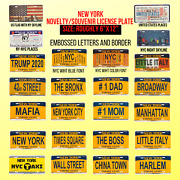 New York City Novelty Souvenir License Plate Brooklyn Trump Usa 12 In 6 In