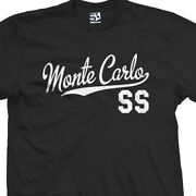 Monte Carlo Ss Script Tail T-shirt - Super Sport Car Tee - All Sizes And Colors