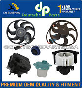 Porsche Cayenne Blower Motor Engine Cooling Fans Recovery Expansion Tank Cap Set