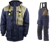 Frabill I4 Jacket And Bib Insulated Ice Fishing Suit Blue Large Msrp 600