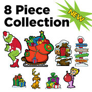 8 Pc And039s Medley Collection-stealing Christmas Lights - Yard Art Decoration