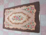 Handmade Vintage American Hooked Rug 150x89-cm / 59.0x35.0-inches