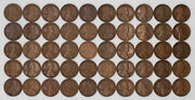 1918 S Lincoln Wheat Cent Penny Vf - Vf + Very Fine Plus Full Roll 50 Coins