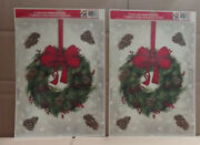 2/pack - Color Clings Static Cling Window Decorations Holiday Themed 2 Sheets