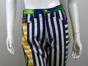 Rare Versace Womenand039s Vintage 90and039s Andndash New York Jazz Era Pants Trousers Size 30 44