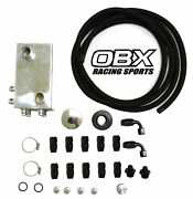 Obx Racing Sports Oil Catch Can Breather Kit For Turbo Honda Acura B16 B18