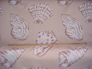 10y Groundworks Gwf-2509 Beachcomber Print Sea Shell Outdoor Upholstery Fabric