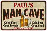 Pauland039s Man Cave Personalized Metal Sign Wall Decor Gift 108120011016