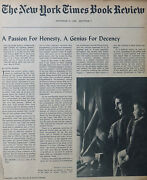 George Orwell Letters Essays Richard Kramer 1968 October 27 Ny Times Book Review
