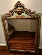 Antique French Neoclassical Painted And Gilt Mirror France Circa 1895