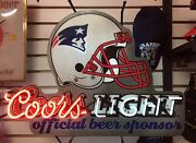 Htf Coors Light New England Patriots Neon Lighted Sign Awesome