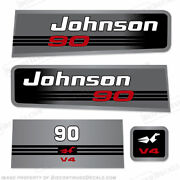 Johnson 90hp V4 Decals - Discontinued Decal Reproductions In Stock